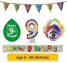 AGE 9 - Happy 9th Birthday Party Balloons, Banners & Decorations