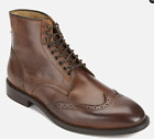 H By Hudson Tan Greenham Leather  Smart Chelsea Ankle Brogue Boots 10 44