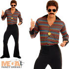 Disco Fever Mens Fancy Dress 1970s Groovy Funky Adults Costume 70s Retro Outfit