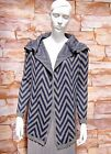 NEXT NAVY BLUE / GREY CHEVRON STRIPE COATIGAN / CARDIGAN SIZE XS,S,M,L