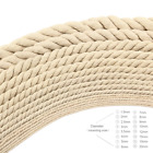 5-20mm Diameter Cotton Three twisted Rope Twisted String Cord Twine Sash Craft