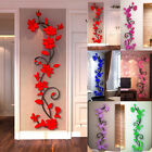 3D Rose Flower Wall Sticker Removable PVC Home decor Decal Room Vinyl DIY ty