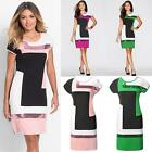 New Fashion Women Casual O-Neck Short Sleeve Patchwork Sequins Package B20E