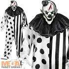 Deluxe Killer Clown Adults Halloween Fancy Dress Mens Circus Horror Costume New