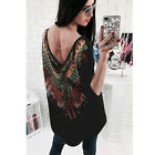Tops Blouses - Womens Loose Long Sleeve Cotton Casual Blouse Shirt Tops Fashion Tshirt New