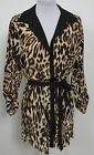 ETCETERA SILK LEOPARD PRINT BELTED TUNIC BLOUSE sizes 0 2 4 6 8 10 12 NEW $295