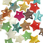 50 Mixed Colour Star Shell Charm Beads 12mm - Choose From 9 Colours