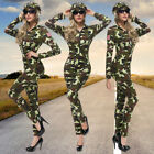 Halloween Ladies Sexy Jumpsuits Army Costume Camouflaged Soldier Outfits
