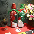2pcs/lot New Christmas Wine Bottle Cover Red Green Bags Home Decoration Party