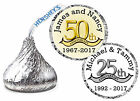 25th or 50th anniversray party favors hershey