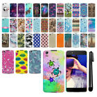 "For Alcatel Idol 4 DALK4004 Nitro 4 5.2"" 6055 PATTERN HARD Back Case Cover + Pen"