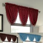 Luxury Waterfall Faux Silk Decorative Trim Window Valance 10 Colors AVAILABLE