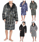 Mens Supersoft Housecoat Fleece Bath Robe Dressing Gown Warm Winter Style Gents