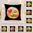 Magic Reversible Emoji Mermaid Sequins Cushion Cover Sofa Throw Pillow Case UK