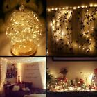 Warm White 100/200 LED String Fairy Lights Xmas Christmas Party Lamp Solar Light