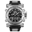 INFANTRY Mens Big Face Military Army Analog Digital Sport Wrist Watch Rubber cheap