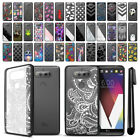For LG V20 VS995 H990 H910 US996 Black Hard Clear Case TPU Bumper Cover + Pen