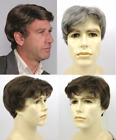 Внешний вид - MENS MALE SHORT STRAIGHT WAVY HAIR SIDE PART LAYERED CHARLES FULL WIG COSTUME