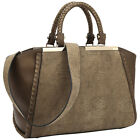 Dasein Two Tone Winged Satchel 3 Colors