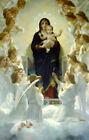 Virgin & Child Surrounded by Angels ~ Mary, Jesus Religious~Cross Stitch Pattern