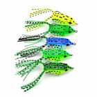 5Pcs Fishing Lures Large Frog Topwater Crankbait Hooks Bass Bait Tackle New