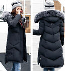 New Women Winter Coat Down Jacket Long Puffer Parka Ladies Fur Hooded Jackets