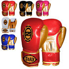 MAYA Leather Boxing Gloves Gel Padded Training Sparring MMA Gloves 4 OZ to 16 OZ