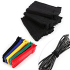 100Pcs Reusable Fastening Organizer Cord Wraps Cable Ties Strap 5 Colors
