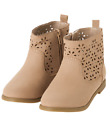 Gymboree Wildflower Weekend Tan Cutout Flower Design Ankle Boots 9 10 1 NWT