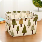 Linen Desktop Storage Box Holder Jewelry Cosmetic Stationery Organizer Case