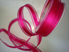 SHOCKING PINK Satin & Sheer Organza Wedding -  Luxury Wire Edged Ribbon