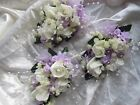 3 Ladies Rose Corsage Wedding Flowers Party Prom Pin On Mum Of Bride Buttonhole