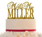 Wedding CakeTopper Mr and Mrs Topper Customized With Your Last Name Glitter