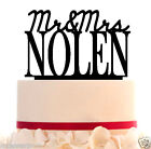 WeddingCakeTopper Mr and Mrs Topper Customized + Your Last Name And Free Base