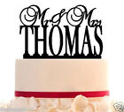 Wedding Cake Topper Mr and Mrs Topper Customize With Your Last Name