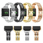 Diamante Replacement Stainless Steel Wristband Strap+Metal Frame Fr Fitbit Blaze