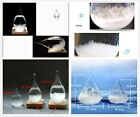 Storm Glass Crystal Diamond or Drip Shape Ornament Weather Forecaster Home Decor