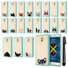 For Huawei Honor 6X/ Mate 9 Lite Animal Clear TPU Teal Bumper Case Cover + Pen