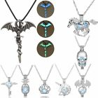 Magic Glow In The Dark Fly Dragon Cross Horse Pendant Necklace Jewellery Gift