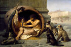 DIOGENES GREEK PHILOSOPHER WHO LIVED IN A POT 1860 PAINTING BY GEROME REPRO