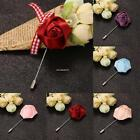 Hot Unisex 1PC Fashion Rose Flower Brooch Lapel Pins Clothes Accessory B20E