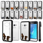 For Samsung Galaxy J1 J120 AMP 2 2nd Gen Animal Clear Black Bumper Cover + Pen