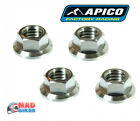 Apico Racing Titanium Hex Head Flange Nuts M6 or M8, MX Motocross Trials x 4