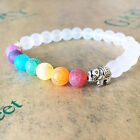 Fashion Chakra Bracelet 7 WHITE and ELEPHANT CHARM Healing Bracelet Jewelry New