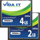 2GB 4GB Compact Flash CF Memory Card High Speed 200x 30MB/s For Digital Camera