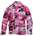 Military Style BDU Shirt Coat Pink Camo Camouflage Rothco 5963