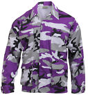 Military Style BDU Shirt Coat Ultra Violet Camo Camouflage Rothco 7910