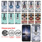 For ZTE Zmax Pro Carry Custom Personalized Monogram Letters Bumper Case Cover
