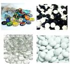 100 Glass Pebbles  *HUGH CHOICE OF COLOURS & QUANTITY*  Nuggets / Stones / Beads
