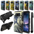 For Samsung Galaxy S8 Active G892A Famous Painting Hybrid Stand Case Cover + Pen